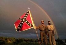 Civil War:  Rebel Battle Flags  / A collection of old photos of Confederate national and battle flags carried into the American Civil War. / by Danny L.