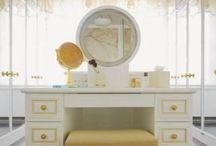 VANITY, MAKE-UP AND BEDROOM ORGANIZATION AND STORAGE. / How using a vanity or other items, for storage and display, can create an elegant, stylish glamorous bedroom or dressing room. / by Msgzt 1252