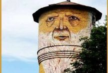Water Towers / Unusual or funny water towers. / by Wanda
