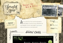 Vintage: web design inspiration / Showcase of beautiful vintage inspired web sites / by Pupixel Studio