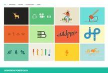 Flat web design inspirations / Showcase of flat webdesign inspirations / by Pupixel Studio