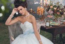 Wedding Dresses, Bridesmaid Dresses, Wedding Party Attire / by Alyssa Hart