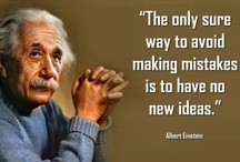 The Quotable Albert Einstein / Albert Einstein has a lot of interesting things to say. Here are a few of his more notable quotes. / by John Kremer / Pinterest Expert