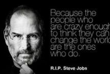 The Quotable Steve Jobs / Quotations and thoughts from Steve Jobs. Rest in peace. / by John Kremer / Pinterest Expert