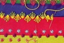 embroidery / stitches / knots / by Ivanka Yastrebov