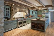 Custom Kitchens / Beautiful kitchens with lovely layouts and features. Everything that would make me want to spend more time cooking or just hanging out in a gorgeous room. / by Christy Aliff