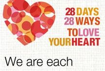 28 Days, 28 Ways to Love Your Heart / Coming in February 2014: Take just 5 minutes a day to show your heart - and yourself - a little love. Throughout Heart Month, February 1–28, UW Health and Dr. Shilagh Mirgain, health psychologist, will offer simple steps, inspiring videos, practical posts and helpful tools to help you take better care of yourself.  / by UW Health
