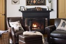 DECOR  FAMILY & SITTING ROOM / Choosing right colors etc. furniture setups / by Crafty Grandma