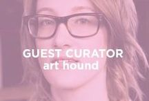 """Guest Curator: Art Hound / Kate Singleton is a Brooklyn-based art lover and entrepreneur and the founder of the art blog """"Art Hound,"""" a location where her passion for exploring and living with art are manifested. This passion serves as the base for her curated online gallery """"Buy Some Damn Art"""" which features original artwork by today's hottest new artists. (www.arthound.com) / by UGallery"""