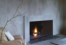 on fire / chimney, fireplace, chimeneas / by designers for design
