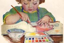 kunst - watercolor / ~~~a delightful, colorful, medium - - but sometimes a dilemma to master~~~ / by Dot Van Deest