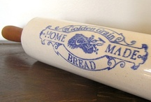 ANTIQUES --m a d e... 4 ... d o u g h / KITCHEN - a round cylinder:  a necessity in rolling the dough flat - KITCHEN / by Dot Van Deest
