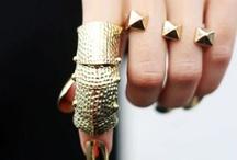 Hand + / rings, bracelets, gloves / by yurichurri