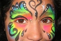 facepainter extrordinaire / ways to make it in 3-5 minutes, shortcuts, etc / by Loni