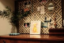 Crafty Office / i love the idea of combining the office with a craft room / by Amanda Barnett