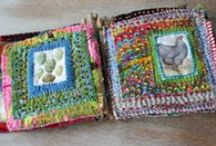 Art - Fabric Journals / Journals daily, monthly, yearly made with fabric and etc. / by Rinnie Hunt Henry