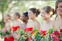 Red Bridesmaid Dresses / If you're looking for bridesmaid dresses in a vibrant of color then this is where you'll find them. Go bold and go red! You'll also find style and a flattering fit that will make your maids look their very best on your big day... / by Dessy Group