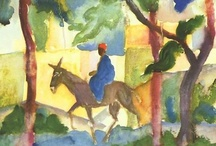 August Macke / I am interested in the creation of space through colour contrasts rather than through simple shading of light and dark. ~August Macke / by D a r i