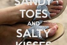 """Beach ~ Sandy Toes and Salty Kisses  ๘ ๘ ๘  вєα¢н ℓσνє / ☼·.·´¯`·.·☼ """"The voice of the sea speaks to the soul."""" ☼·.·´¯`·.·☼      """"I dig my toes into the sand;  The ocean looks like a thousand diamonds Strewn across a blue blanket. I lean against the wind, Pretend that I am weightless,  And in this moment I am happy.""""   - Incubus  / by Deb S ❥ ❥ ❥"""