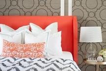 bedroom / interior design, bedroom, home decor, headboard, bed / by Atomique47