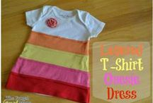 Upcycled T-Shirt Crafts / Take that old t-shirt and turn it into some fun like an upcycled headband, upcycled dress, and more! / by Jen @ TheSuburbanMom.com