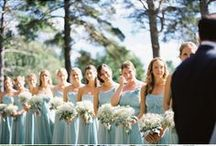 Bridesmaids color wheel-Green Gowns / by Jasmine Bridal