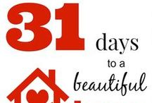 "31 Days to a Beautiful Home / 31 Days to a Beautiful Home is a series from blogger Marty's Musings sharing all the different areas that encompass a true home: family culture, DIY projects, home decor, entertaining, easy family recipes and more. ""Home is where your story begins!"" / by Marty's Musings DIY/Home Blog"