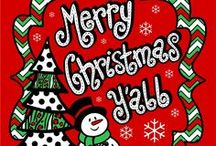 Merry Christmas Y'all : / by Janice Dryden Adair