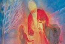 Saint Nicholas / Celebrated the eve of 5 December and morning of 6 December.  Sinterklaas, Saint Nicolas, Sankt Nikolaus, Sint Nicolaas / by Kristin W