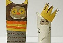 бумажные рулончики, упаковки от яиц / by Tatiana Alekseeva Sni No
