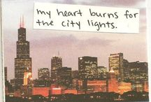 """Let's go to The City / """"I believe falling in love with a city is just as exciting as falling in love with a person.. Your senses become engaged and you simply feel more alive.""""  / by Jamie Lynn"""