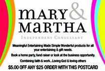 Mary & Martha (formerly Blessings Unlimited) / Our exclusive, message-based products include home décor items & gifts created to encourage hearts. Bring beauty to the place where you live.    Mission To persue the heart of God and to bring BLESSINGS to others.  Description To persue the heart of God and to bring blessings to others. Inspirational home decor, greeting cards, books and gifts. Shop on line, host a gatherin or join the business.  / by Michelle Newton