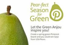 Pear-fect Season for Green / Green is the color of spring and the color of one of the most ubiquitous pears harvested by the growers of USA Pears – the Green Anjou. Reach for bright Green Anjou pears for fresh snacking, recipes, cocktails and décor. Create a spring green Pinterest board to be entered for a chance to win fresh pears and a $250 gift card from USA Pears. For more details, visit www.usapears.org/springforpears.aspx. #springforpears / by USA Pears
