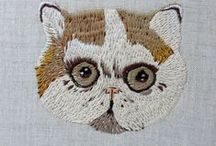 embroidery / cross-stitch / by Leah Buckley