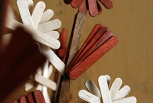 Arts and Crafts with Popsicle sticks / by Jackie Thingvold
