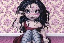 A Little Cute n' Creepy / Creepy and cute art. Please help identify artists.   / by MaryWho Bergin