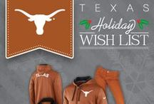 Holiday Wish List / Texas Longhorns e-cards, holiday gifts and more! Order by 3 p.m. ET/ 2 p.m. CT on Saturday, Dec. 21 with 2-day shipping from Texas Longhorns Official Team Shop and receive your order by Christmas Eve! Hook 'em, Horns! / by Texas Longhorns