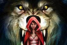 RED & THE BIG BAD WOLF / by Mikele - Bodie's Mama