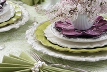 Table Scapes / Beautiful Tables for Memorable Dining. Dishes, China, Serving & Silver  / by Jill McCall ~* Feathers & Flight*~