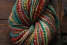 Handspun Yarn / Beautiful handspun yarns I've found. / by Robyn Rubins