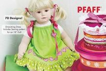 """464 - Mini Decorator Embroidery Collection / PFAFF® Mini Decorator Embroidery Collection 464 - It's time to unleash your imagination with a collection that includes 70 mini designs to play with! In addition, you'll also receive instructions for a drawstring dress that includes a pattern for an 18"""" doll.  / by PFAFF®"""