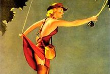 VINTAGE PIN UP POST CARDS / by Valerie Johnson