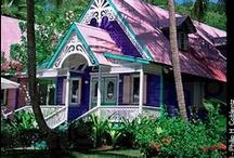 Caribbean Houses - Cottages / Caribbean Beach Houses - Cottages - Chattels  / by Caribbean Sunshine or @CaribbeanInfo