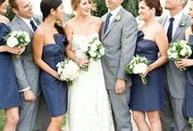 Navy Blue Bridesmaid Dresses / A collection of navy blue bridesmaid dresses from wedding blogs and retail partners to inspire and give you a full range of choices for your bridesmaids! See our Navy Blue Wedding Board for more inspiration.  / by Dress for the Wedding