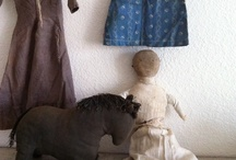 antique textiles, samplers, and dolls / by Tyne Armor