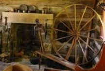 Antique Flax Wheel, Spinning Wheels, Looms, Swifts & Acessories / by Tyne Armor