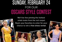 The Oscars: Red Carpet Style / Tune in on Sunday, February 24 for our Oscar Style contest! We'll be live-pinning the hottest celeb looks from the red carpet...Repin your favorites to enter for your chance to win a free dress rental. / by Rent the Runway