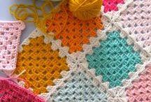 Crochê - Squares, Granny / by Patricia Moura