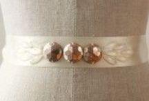 DRESS SASHES / Wedding dress sashes, bridesmaid dress sashes / by Emmaline Bride | Handmade Wedding Blog