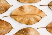 PLACE CARDS / Wedding place cards / by Emmaline Bride | Handmade Wedding Blog